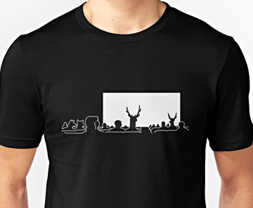 Surrealist Cinema t-shirt design