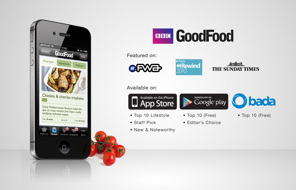 Bbc goodfood app suite sanjay mistry digital designer in 2011 the bbc goodfood classic app was in the top 10 free category on google play forumfinder Gallery